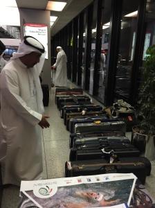 Šāvēju ieroči Dubaijas lidostā.
