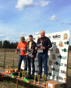 Sportinga uzvarētāji individuālajā kopvērtējumā - Nauris Matvijuks, Einārs Lapiņš, Mārtiņš Turkopulis